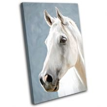 Horse White Animals - 13-0653(00B)-SG32-PO